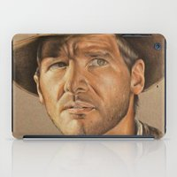 indiana iPad Cases featuring Indiana Jones by Ashley Anderson