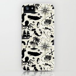 High Seas Adventure // Yellow Waves iPhone Case