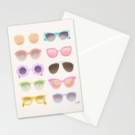 Colorful Sunglasses Stationery Cards