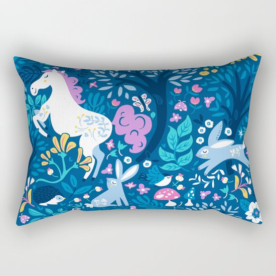 Woodland Folk Rectangular Pillow