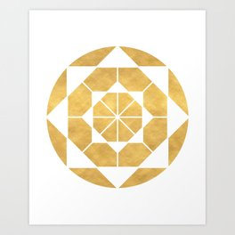 CIRCLES AND SQUARES sacred geometry Art Print