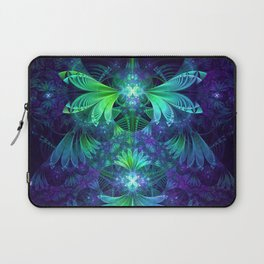The Clockwork Kite Wings of a Blue-Green Dragonfly Laptop Sleeve
