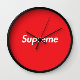 SUPREME BOX LOGO Wall Clock