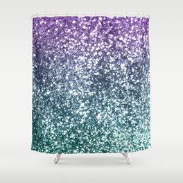 Aqua Purple Ombre Glitter #4 #decor #art #society6 Shower Curtain
