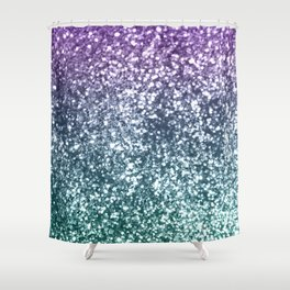 Aqua Purple Ombre Glitter #4 #decor #art #society6 Shower Curtain
