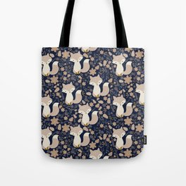 autumn and the fox Tote Bag