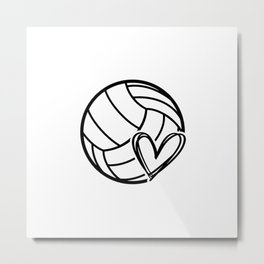 Volley love. Volleyball team coach gift Metal Print