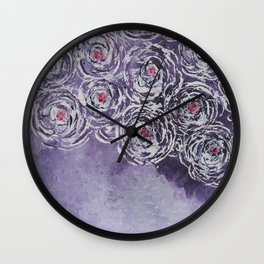 Art-ichoke in purple Wall Clock