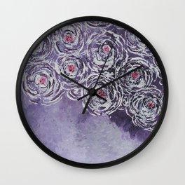 Art-ichoke in purple Wall Clock