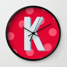 K is for Kindness Wall Clock