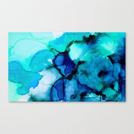 Booming Turquoise Canvas Print