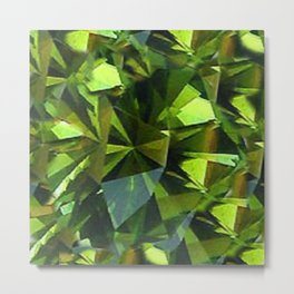 AUGUST BABIES GREEN PERIDOT BIRTHSTONE GEM Metal Print