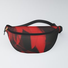 Mysterious Red Feathers on Black Background #decor #society6 #buyart Fanny Pack