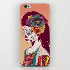 Mexican Skull Lady iPhone & iPod Skin