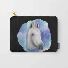 Unicorn Watercolor Pastel Tone Color Animal Face Carry-All Pouch