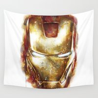 iron man Wall Tapestries featuring Iron Man by beart24