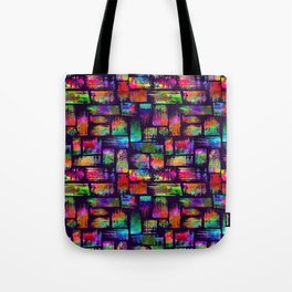 Rainbow brush stripes and strokes Tote Bag