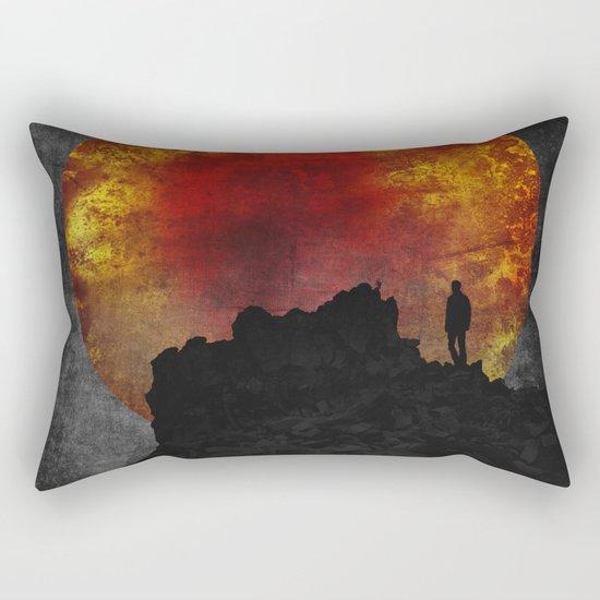 ash and fire Rectangular Pillow