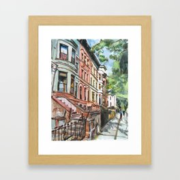 Brooklyn Brownstones Framed Art Print