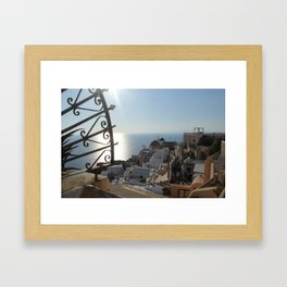 The Village of Oia Framed Art Print