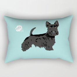 scottish terrier scotties funny farting dog breed pure breed pet gifts Rectangular Pillow