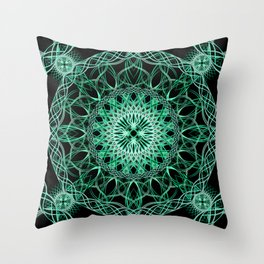 Luminous Knot Mandala Throw Pillow