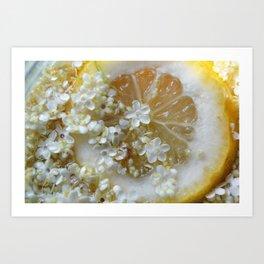 Lemon and elderflower Art Print