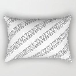 Black white watercolor hand painted geometrical chevron zigzag Rectangular Pillow