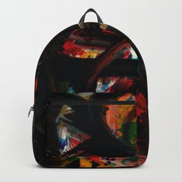 Back to Black Abstract Art Expressionism Backpack