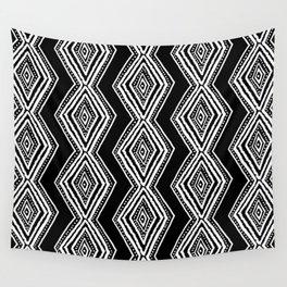diamondback in black & white Wall Tapestry