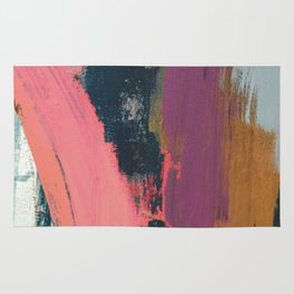 Anywhere: a bold, colorful abstract piece Rug