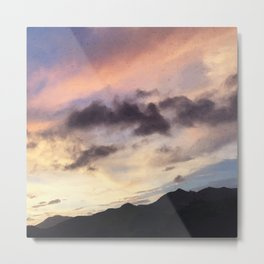 Evening Sunset Landscape/ Road Mountainside Trip Metal Print