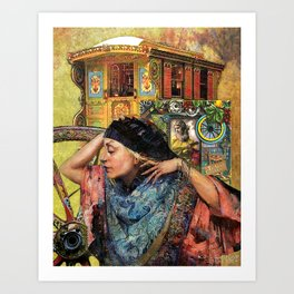 Composition 17B – 'Caravan de la Strega' (Caravan of the Gypsy Witch) Art Print