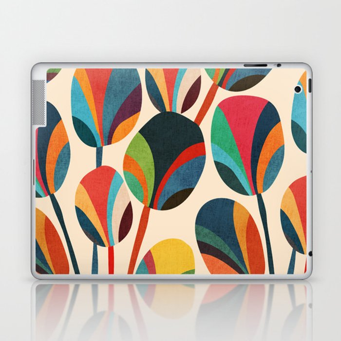 Ikebana - Geometric flower Laptop & iPad Skin