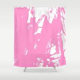Pink Ink Shower Curtain
