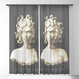 Gold Medusa Sheer Curtain