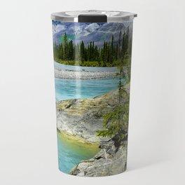 turquoise river Travel Mug
