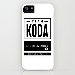 Koda Personalized Name Birthday Gift iPhone Case