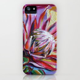 The King Protea - hot pink and yellow ochre iPhone Case