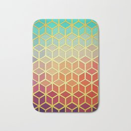 Colorful and golden stained glass Bath Mat