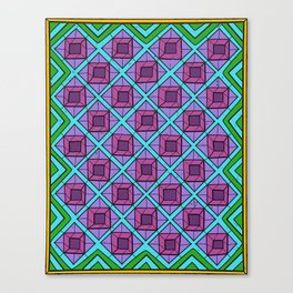 Squares in Diamonds Canvas Print