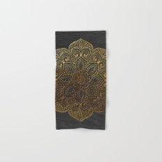 Wood Mandala - Gold Hand & Bath Towel