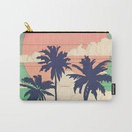 Retro Vaporware Tropical Sunset Carry-All Pouch