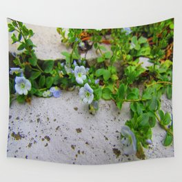 Little Blue Spring Wall Tapestry