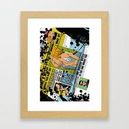 The biggest Battle is the one inside you (Color) Framed Art Print