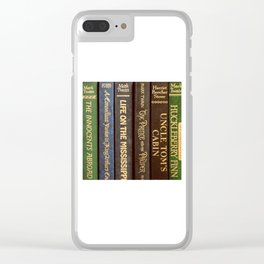Old Books - Square Twain Clear iPhone Case