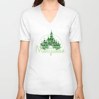 marijuana V-neck T-shirts featuring Marijuana  by FandomizedRose