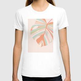 Monstera Leaf pastel love  T-shirt