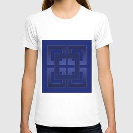 Indigo , blue T-shirt