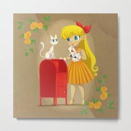 Retro Sailor Venus Metal Print